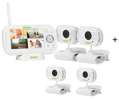 "Uniden Bw3104  4.3"" Quad Camera Digital Wireless Baby Monitor+Temp Display"