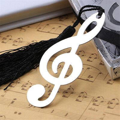 Music Note Alloy Bookmark Novelty Ducument Book Marker Label Stationery Gift POP