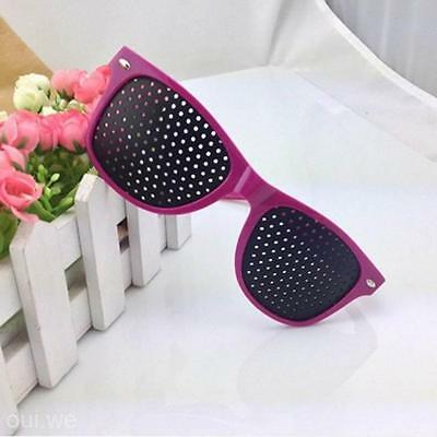 Hot Pink Frame Vision Care Improver Pinhole Glass Anti-fatigue Stenopeic Glasses