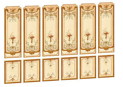 Dolls House Victorian Wall Panels choose from 1/12th or 1/24th scale #05