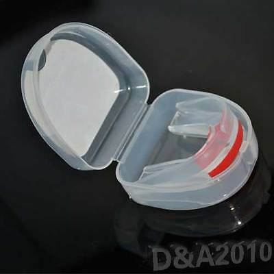 Sport Gum Shield MMA Boxing Mouth guard Double Protect Monthguard Mouthpiece new