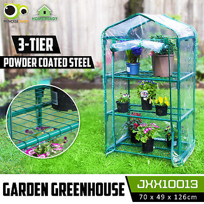 Garden Greenhouse 3-Tier Tall Green Hot Plant House Shed Storage PVC Cover Apex