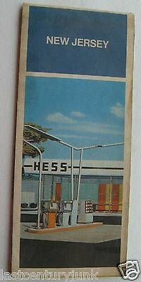1971 Hess  Road Map Of New Jersey