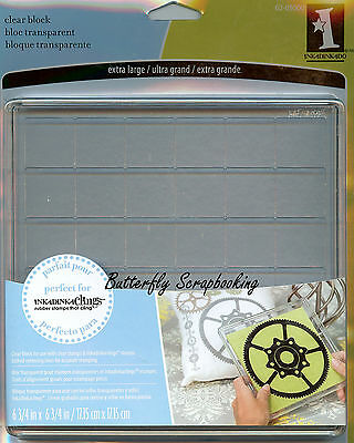 Large 6x6 inch Clear Mounting Block Unmounted Rubber Stamp Block Inkadinkado New
