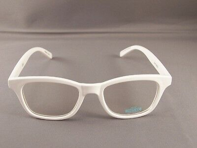 7ab32a5087a White frame Clear lens sunglasses womens ladies 80s style nerd glasses