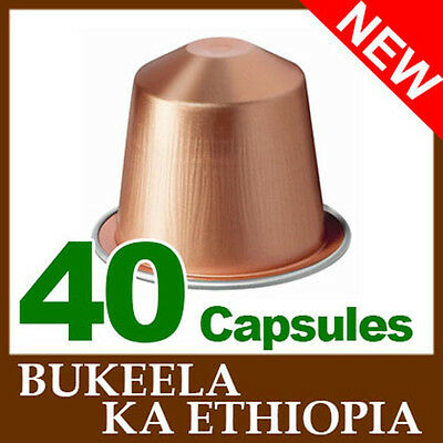 40 BUKEELA KA ETHIOPIA Capsules Nespresso Coffee *BRAND NEW ~ FRESH SEALED*
