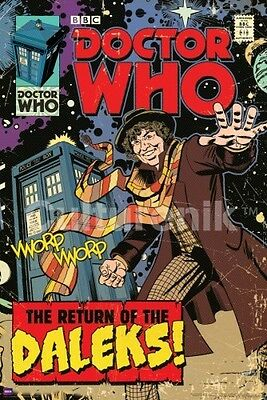 TELEVISION POSTER Return of the Daleks Doctor Who Comic Cover