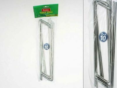 12 x Tent Pegs Metal 10 pack (120) large 22.5cm stakes Bulk Wholesale Lot
