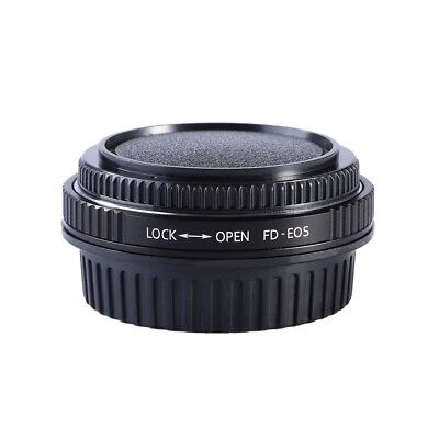 Canon FD Lens to EOS EF Body Mount Adapter With Glass Cap focus to infinity