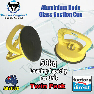 Aluminium Alloy Dent Puller Suction Cup Window Glass Lifter Remover-Twin Pack