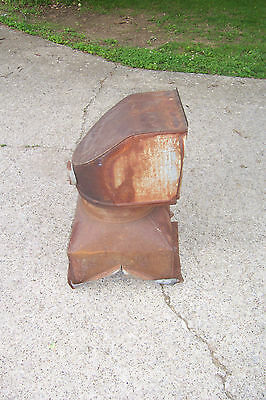Antique Vintage Clay Equipment Corp. Galvanized Metal Barn Roof Vent Swivel Top1