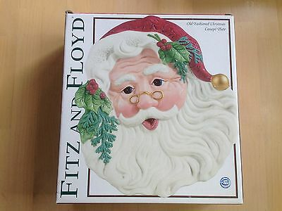 2003 Fitz and Floyd 19/1266 Classics Santa Old Fashioned Christmas Canape Plate