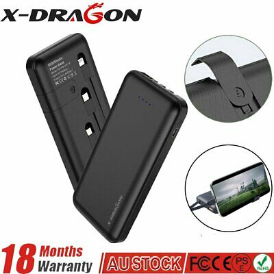Portable LCD Power Bank 300000mAh 2USB LED External Battery Charger For Phone AU
