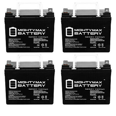 Mighty Max 4 Pack - ML35-12 - 12V 35AH U1 Deep Cycle AGM Solar Battery Replaces
