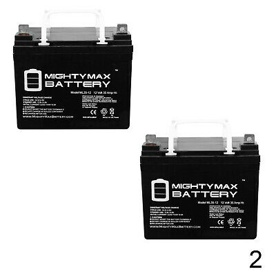 Mighty Max 2 Pack - ML35-12 - 12V 35AH Replaces U1-36NE Battery w/ Nut and Bolt