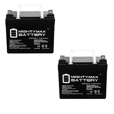 Mighty Max 2 Pack - 12V 35Ah U1 Wheelchair Scooter Battery Replaces 31Ah MX-1231