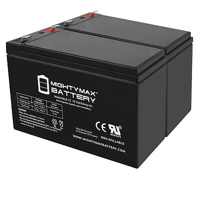 12V 1Amp Charger Mighty Max 12V 8AH SLA Battery Replaces Crown Embassy 12CE7.5