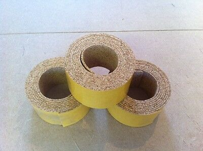 SELF ADHESIVE NATURAL CORK - 6 METER LONG - 50 mm WIDE - 2 mm THICK