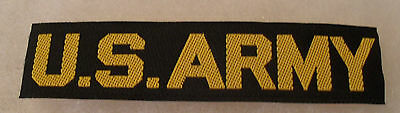 1950's Rare Elvis Style German Made Woven Us Army Gold & Black Tape