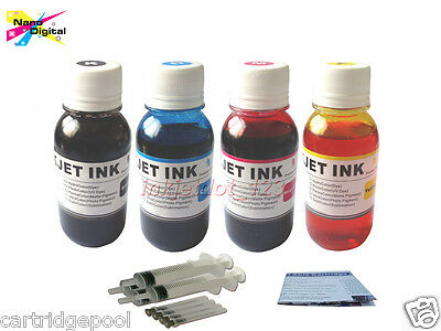Refill ink for Epson WORKFORCE 30 40 310 315 500 600 610 615 1100 4x100ml