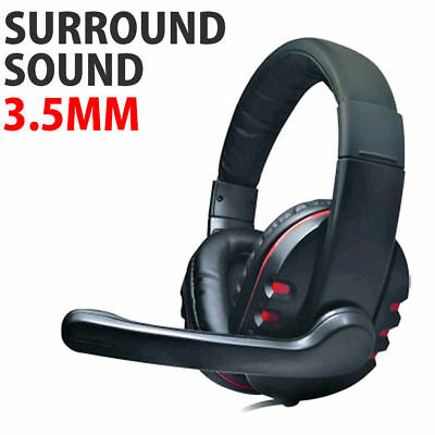 DH-878 Surround Sound Stereo PC Gaming Headset & Microphone 3.5mm Jack [006613]