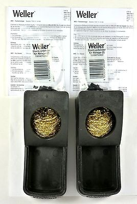 Lot of(2) WELLER WDC Soldering Tip Dry Cleaning System with Replaceable Wool