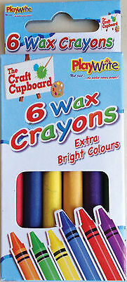 48 Packs of 6 Wax Crayons - Brand New Wholesale Pocket Money Toys in Display Box
