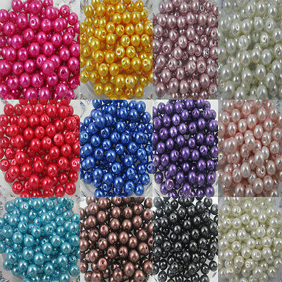 Wholesale Glass Pearl Round Spacer Loose Beads 4mm/6mm/8mm