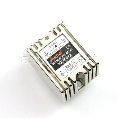 PCB Mount 7A SSR Solid State Relay DC Control AC Input DC3-32V Output AC0-380V