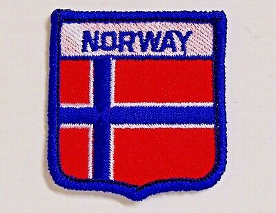 Norway Embroidered Patch Shield Woven Cloth Badge Sew-On Jacket Flag Norwegian
