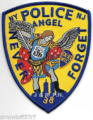 "Tribute - NY/NJ  ""Never Forget - Angel"" (4"" x 5"" size)  shoulder police patch"