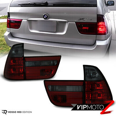 WINE RED- 2000-2006 BMW X5 E53 Smoke Euro Rear Trunk Brake Tail Light LEFT+RIGHT