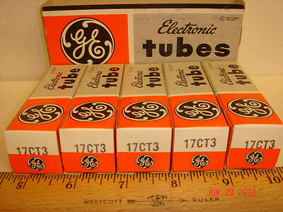2 Vintage GE 17CT3 Vacuum Tubes NOS from case New in Original Box