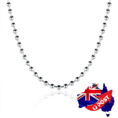 Wholesale New 925 Sterling Silver Filled 2mm Beads Chain Necklace For Pendants
