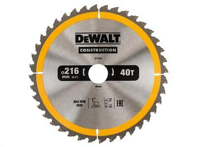 Dewalt Dt1155 / Dt1953  Circular Saw Blade Construction Nail Impact 216Mm 40T