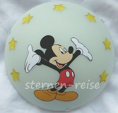 Wandlampe Micky Maus  Lampe Wandleuchte  Deckenlampe Mickey Mouse gelbe Sterne