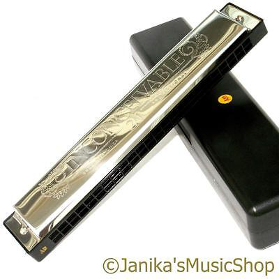 Swan professional A minor key harmonica 48 note tremolo mouth organ in hard case