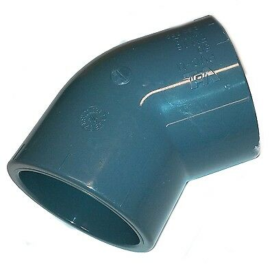 PVC Pipe Elbow Bend 45ø Solvent Weld Glue 20mm 25mm 32mm 40mm 50mm 63mm 75mm90mm