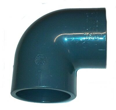 PVC Pipe Elbow Bend 90ø Solvent Weld Glue 20mm 25mm 32mm 40mm 50mm 63mm 75mm90mm