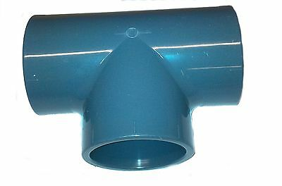 PVC Pipe Tee Solvent Weld Glue 20mm 25mm 32mm 40mm 50mm 63mm 75mm 90mm