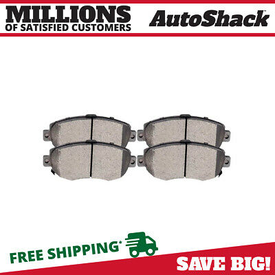 NEW PREMIUM COMPLETE SET OF FRONT CERAMIC DISC BRAKE PADS WITH SHIMS