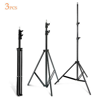 Lusana Studio 3pcs 7ft Light Stand Video Lighting Photography Light weight Stand