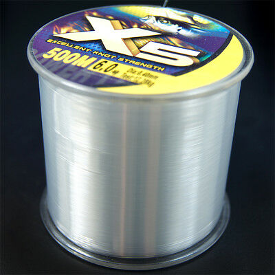 Power Monofilament 100M/109yards-500M/546yards Mono Fishing line 2LB-25LB X5