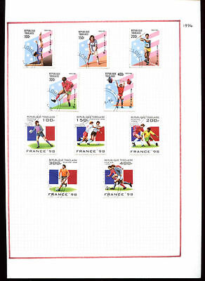 Togo 1996, Sports Football Album Page Of Stamps #V1106