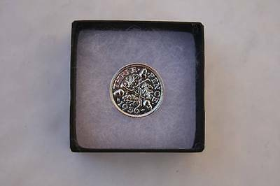 Boxed Polished Silver Three Pence Choice Of Date 1920-1944 Birthday Present