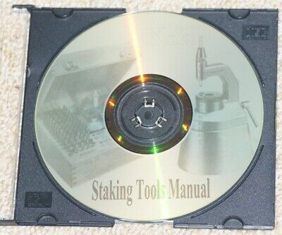 How to use STAKING TOOLS CD watchmaking repairs vintage punches watchmakers