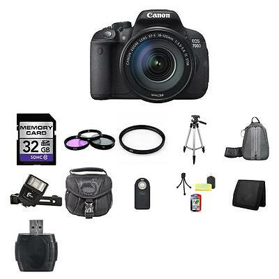 Canon EOS 700D SLR Camera w/18-135mm Lens 32GB Full Kit