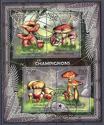 Central African Republic 2012 Mushrooms Sheet of 4 used