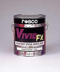 Rosco Vivid FX Fluorescent Paint - Brilliant Blue - 0.47 Litre