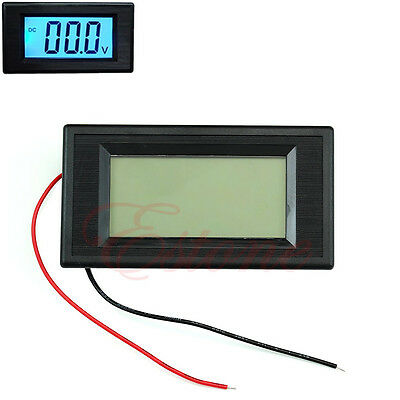 New 2-wire DC 7-30V LCD Car Auto Digital Blue Volt Panel Meter Voltmeter Monitor